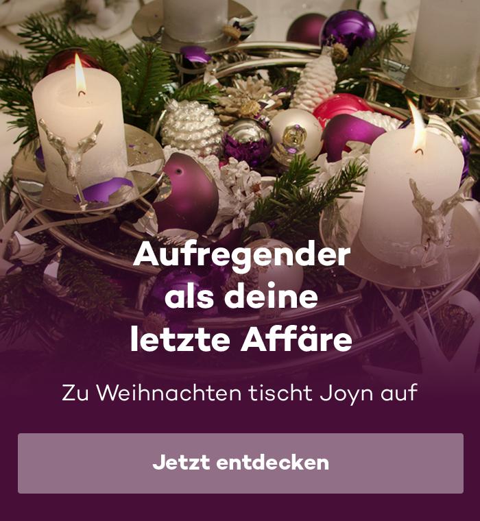 Zu Weihnachten tischt Joyn auf